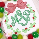 Wreath Sketch Monogram